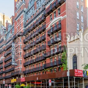 Hotel Chelsea, iconic landmark in New York City, USA