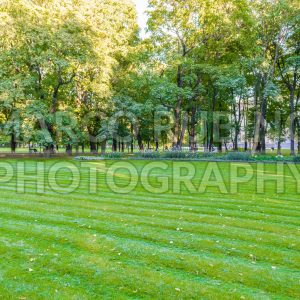 Inside Mikhailovsky Garden, idillic park in central St. Petersburg, Russia
