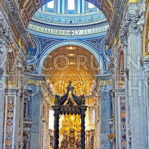 Interior of St. Peter's Cathedral, Rome, Italy