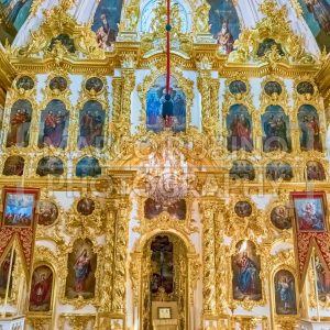 Interior of the Church of Grand Palace in Peterhof, Russia