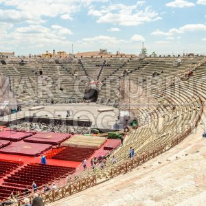 Interior of the Verona Arena, Roman amphitheatre in Verona, Italy