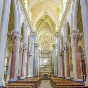Interior of the medieval Cathedral of Erice, Sicily, Italy