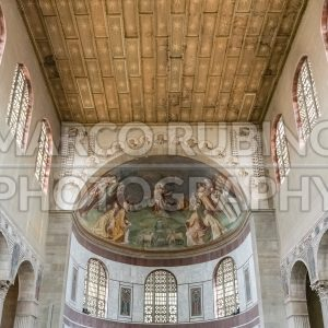 Interiors of Saint Sabina Basilica in Rome, Italy