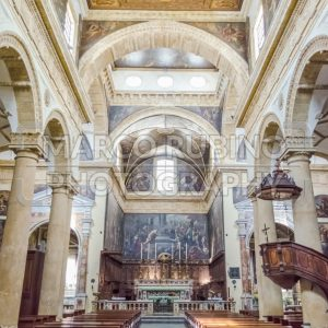 Interiors of the Sant'Agata Cathedral in Gallipoli, Italy