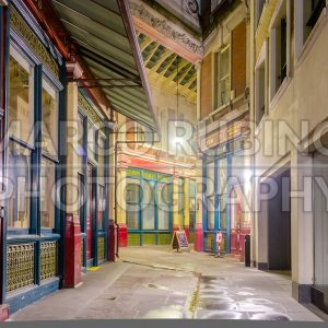 Leadenhall Market, traditional covered market in London, UK