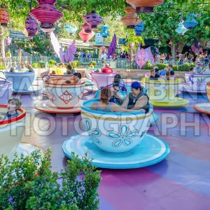 Mad Tea Party attraction, Disneyland Park in Anaheim, California, USA