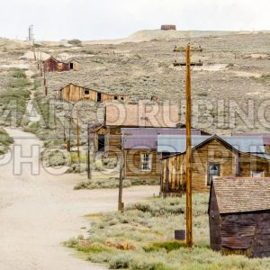 Main Street in the Ghost Town of Bodie, California, USA