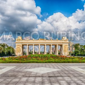 Main entrance gate of the Gorky Park, Moscow, Russia