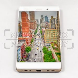 Modern smartphone displaying full screen picture of New York, USA