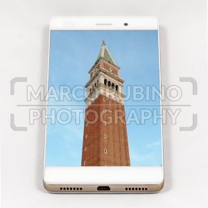 Modern smartphone displaying full screen picture of Venice, Italy