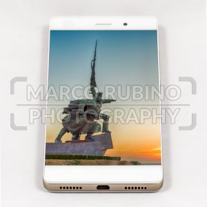 Modern smartphone displaying picture of Sevastopol, Crimea