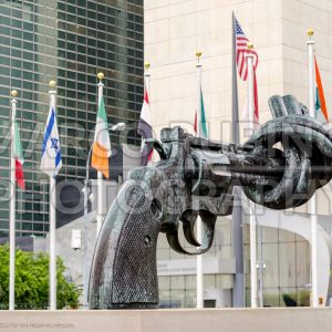 Non-Violence sculpture at United Nations Headquarters, USA