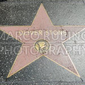 Oliver Stone's Star on Hollywood Boulevard, Los Angeles, USA