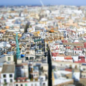 Panoramic View of Sevilla from the top of the Giralda Bell Tower