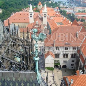 Panoramic view of Prague from St. Vitus Cathedral, Czech Republic