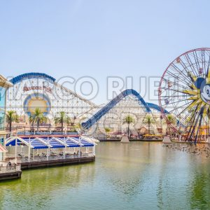 Paradise Pier at Disney California Adventure Park, Anaheim, California, USA