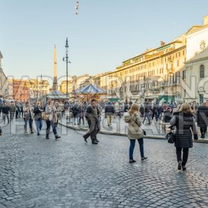 Piazza Navona, iconic square in central Rome, Italy