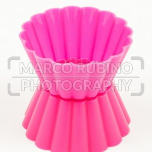 Pink silicone cake cups