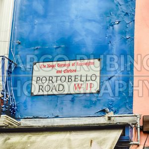 Portobello Road sign in Notting Hill, London, UK