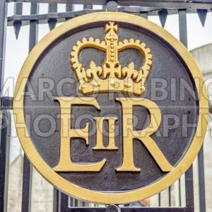 Queen Elizabeth II Royal Crest, Tower of London, UK