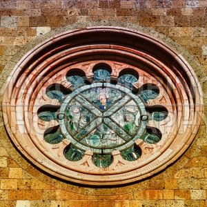 Rose Window in Orvieto, Italy