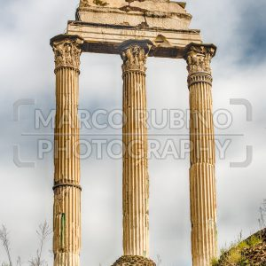 Ruins at Temple of Castor & Pollux, Roman Forum, Italy