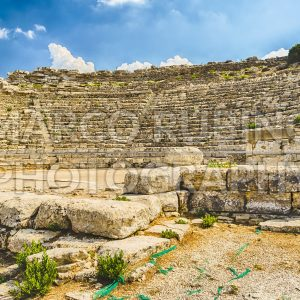 Ruins of the greek theatre of Segesta, Sicily, Italy