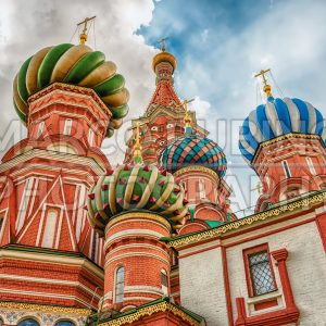 Saint Basil's Cathedral on Red Square in Moscow, Russia