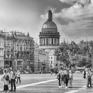 Saint Isaac's Cathedral seen from Palace Square, St. Petersburg, Russia