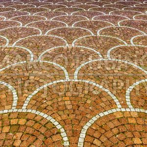 Sampietrini pavement in Rome, may be used as background