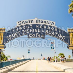 Santa Monica iconic entrance arch, California, USA