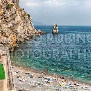 Scenic coastline on the Black Sea near Yalta, Crimea
