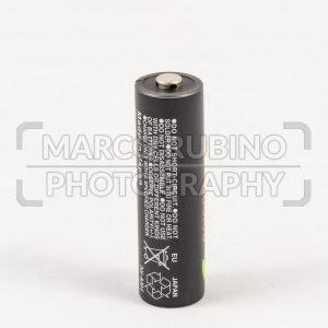 Single unbranded black AA rechargeable battery