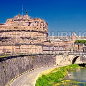 St Angelo Castle over the Tevere River, Rome, Italy