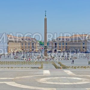 St. Peter's Square in Vatican City, Rome, Italy