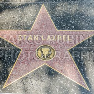 Stan Laurel's Star on Hollywood Boulevard, Los Angeles, USA
