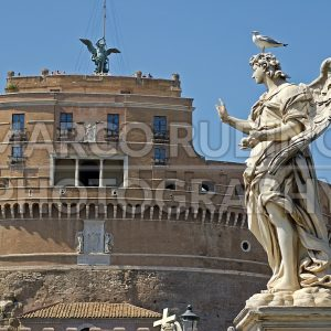 Statue near Castel Sant'Angelo in Rome, Italy