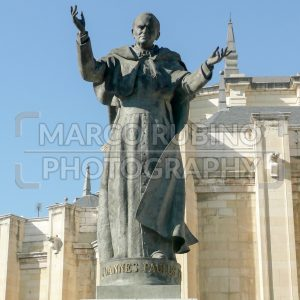 Statue of pope John Paul II (Karol Wojtyla) in front of Madrid Almudena Cathedral, Spain - Marco Rubino | Photography - Inspiring imagery for creative projects