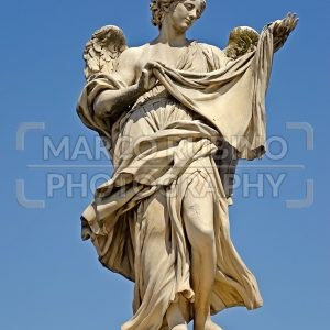 Statue on Sant'Angelo Bridge in Rome, Italy
