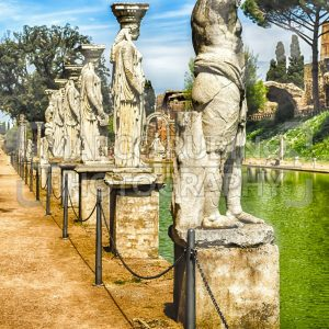 Statues of the Caryatides at Villa Adriana, Tivoli, Italy