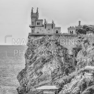 Swallow's nest, scenic castle over the Black Sea, Yalta, Crimea
