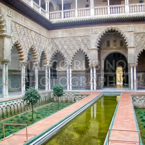 The Courtyard of the Maidens at Alcazar of Seville