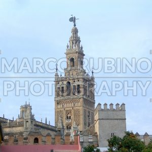 The Giralda, Bell Tower of Sevilla Cathedral, formerly a minaret, Spain