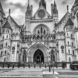 The Royal Courts of Justice in London, UK