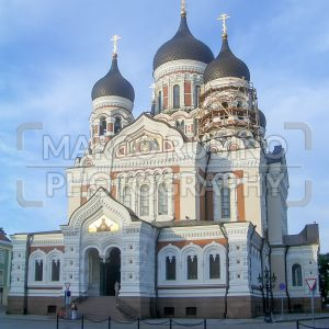 The Russian Orthodox Alexander Nevsky Cathedral in Toompea, Tallin, Estonia