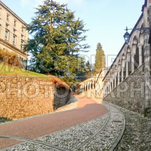 The Slope to the Udine Castle, Italy