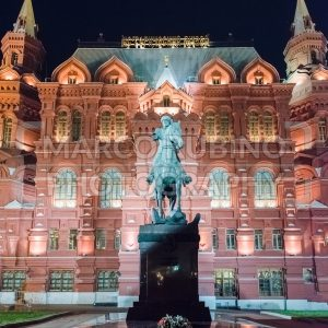 The State Historical Museum and Marshal Zhukov statue, Moscow, Russia