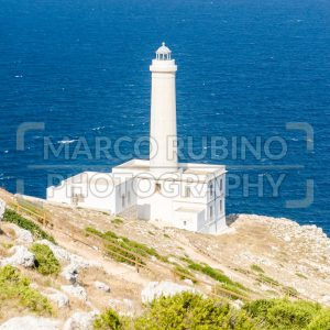 The iconic lighthouse of Capo d'Otranto, Salento, Apulia, Italy