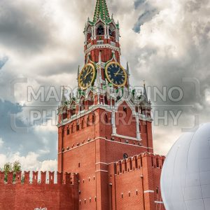 The scenic Spasskaya Tower of the Moscow Kremlin, Russia