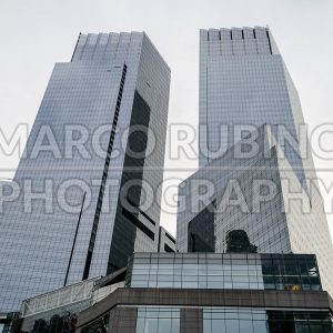 Time Warner Center, iconic skyscrapers in New York, USA